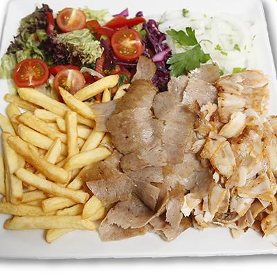 Plato Carne y Arroz con Patatas